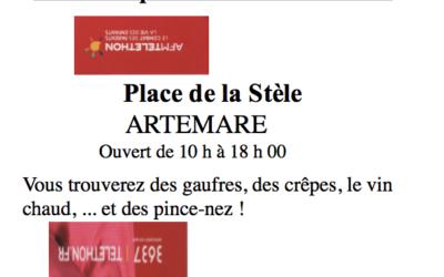 Téléthon 2020 : Rendez-vous, Place de la Stèle à Artemare !